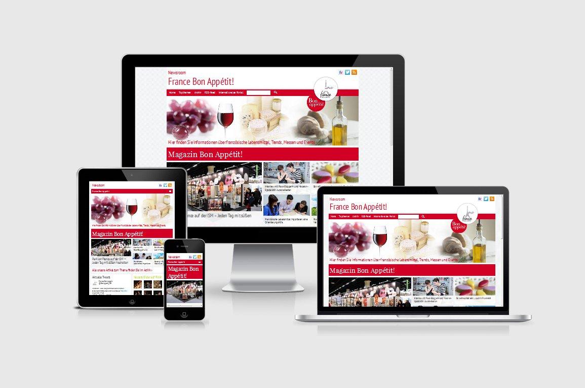 France Bon Appétit! Newsroom Responsive Webdesign