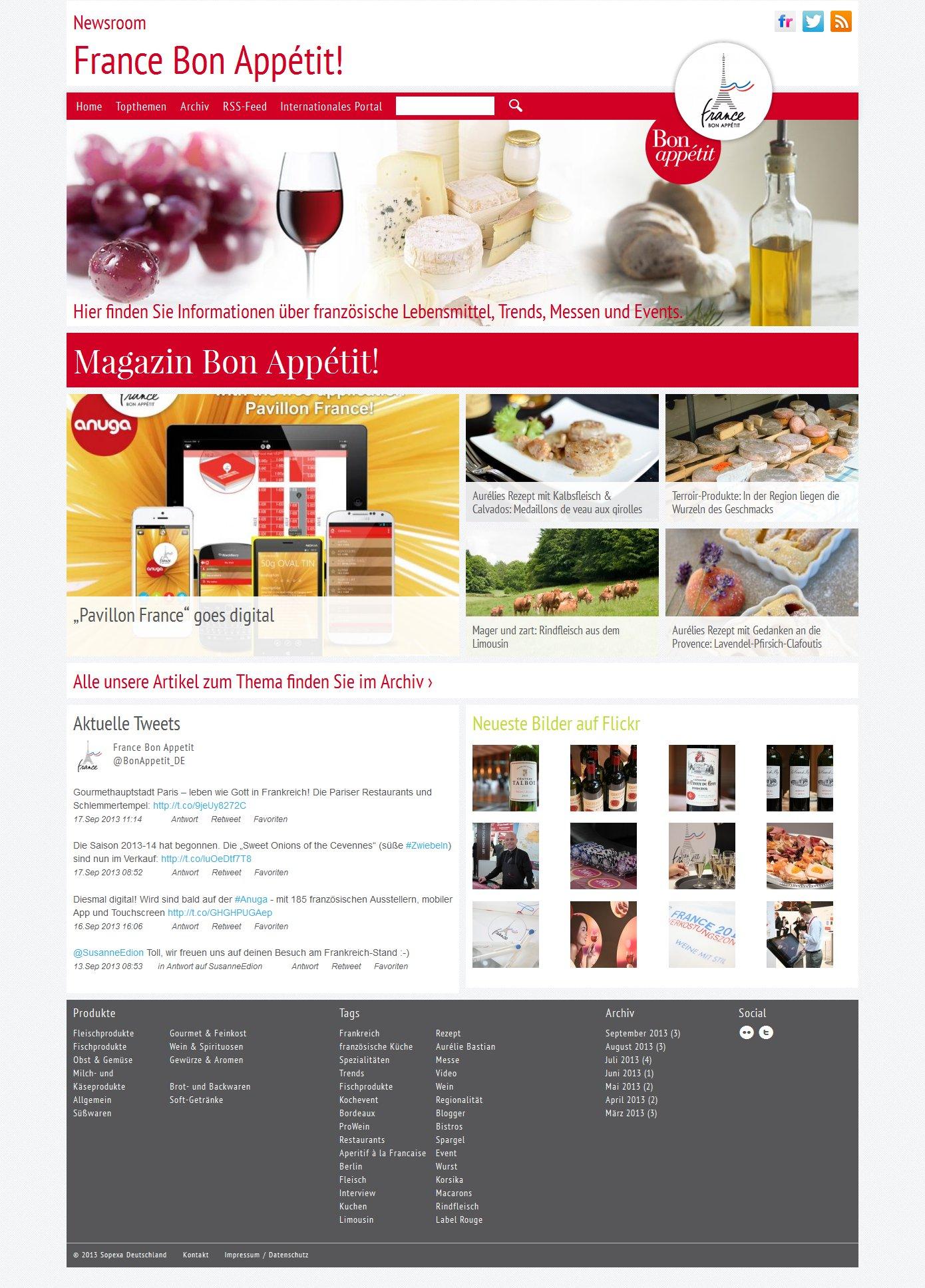 France Bon Appétit! Newsroom Startseite