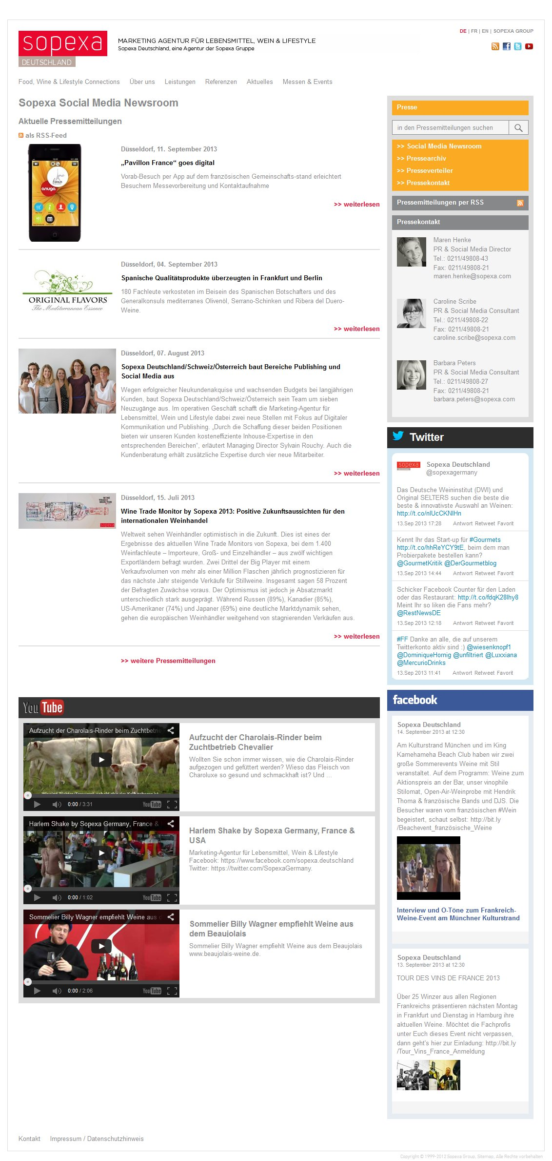 Sopexa Newsroom Startseite