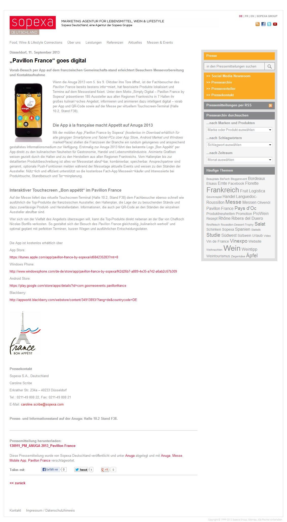Sopexa Newsroom Artikel